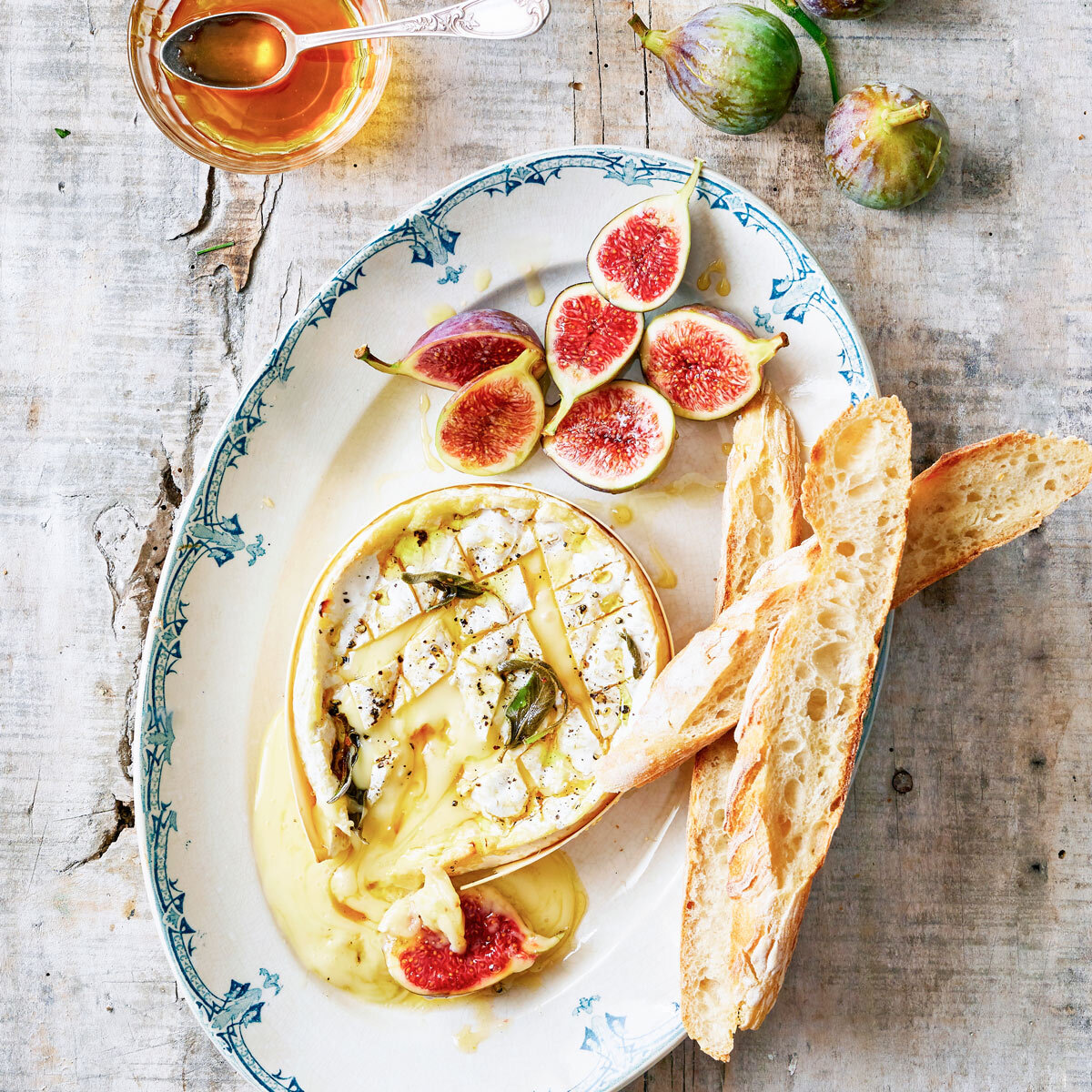 Vivier baked camembert with figs